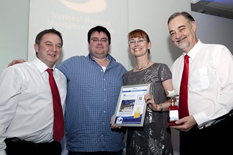 Amicus Horizon collect their award for best contract
