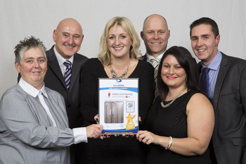 Golden Lane collect their award for best small client