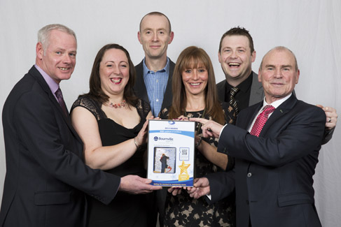 Bournville Village Trust collect their award for Most improved asset management service