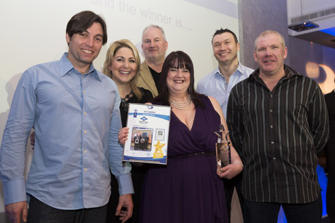 Golden Gates collect their award for best client