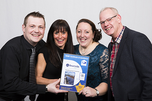 Bourneville Village Trust collect their award for Best in-house maintenance service provider