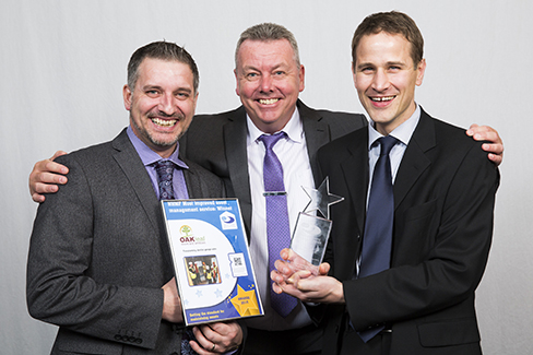 Oakleaf collect their award for Most improved asset management service